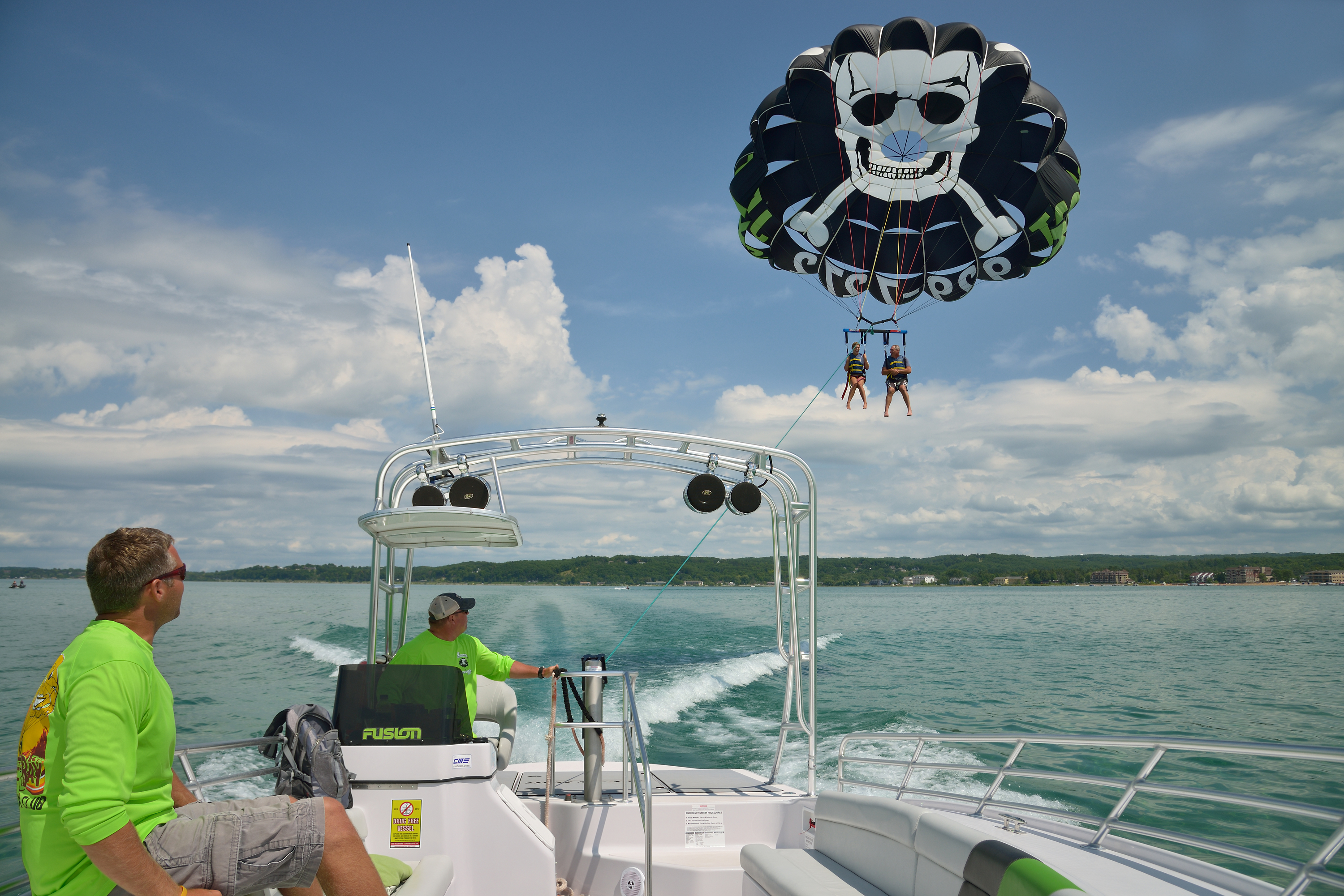 Traverse Bay Parasailing Boat View