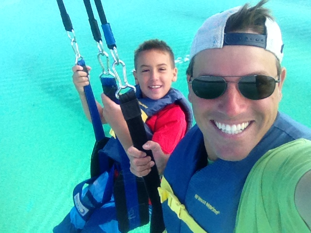 Traverse Bay Parasailing Selfie